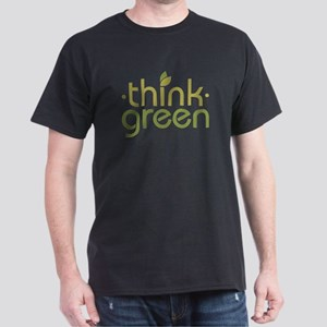 Think Green [text] Dark T-Shirt